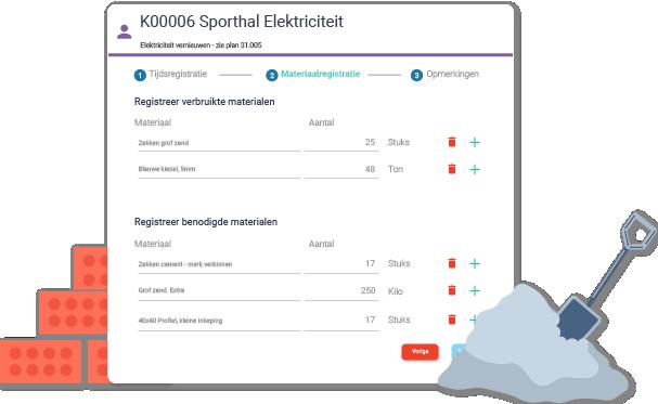 Materiaalregistratie - Perform Optimal - Arinto - Optimaliseer uw personeel, materieel en materiaal