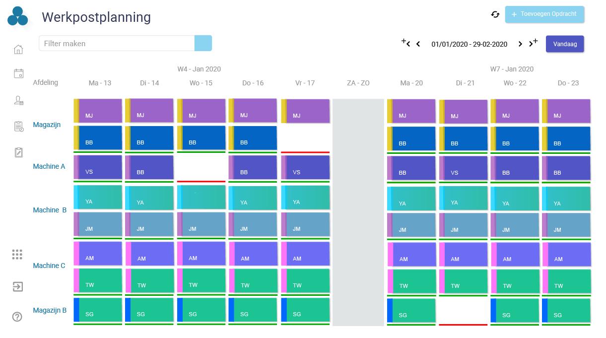 Werkpostplanning – Arinto – Optimaliseer uw personeel, materieel en materiaal